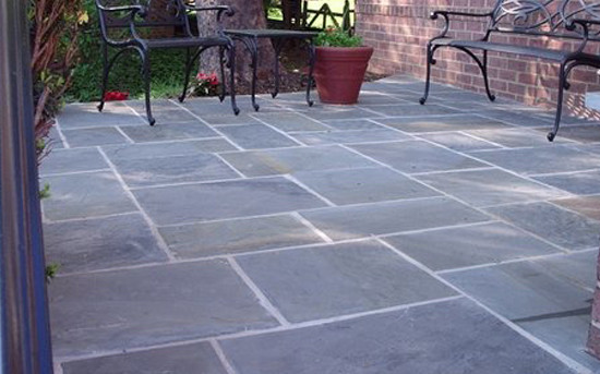 Stone patio flooring for Enhancements Inc.